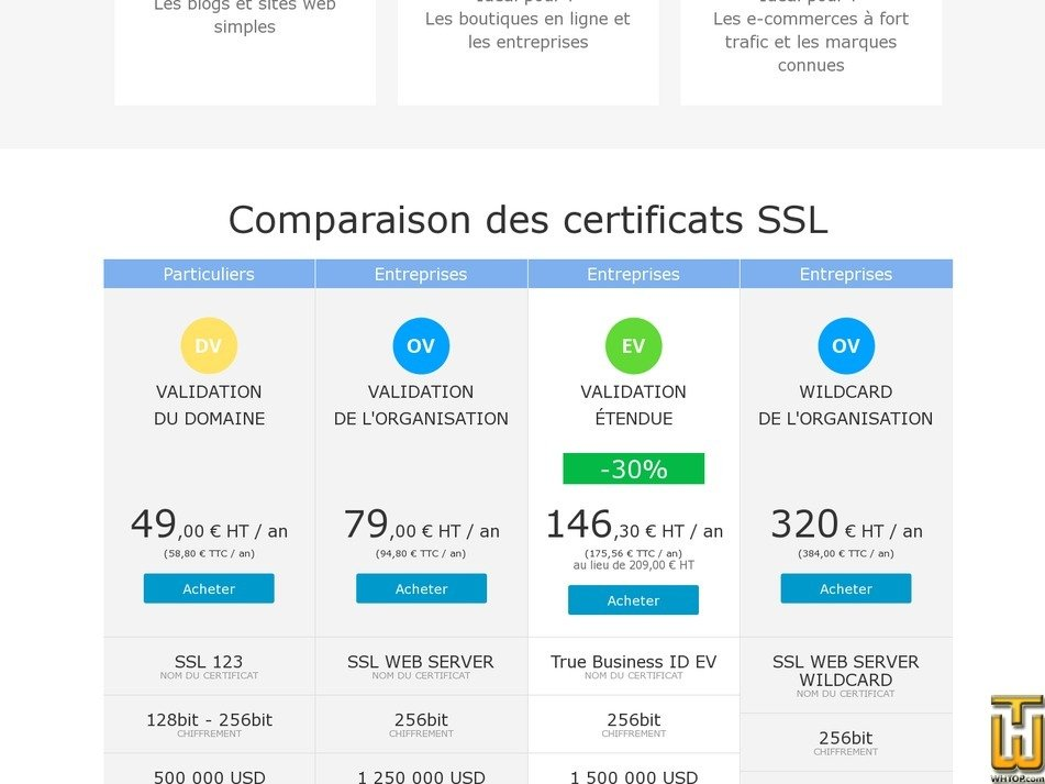 screenshot of True Business ID EV from amen.fr