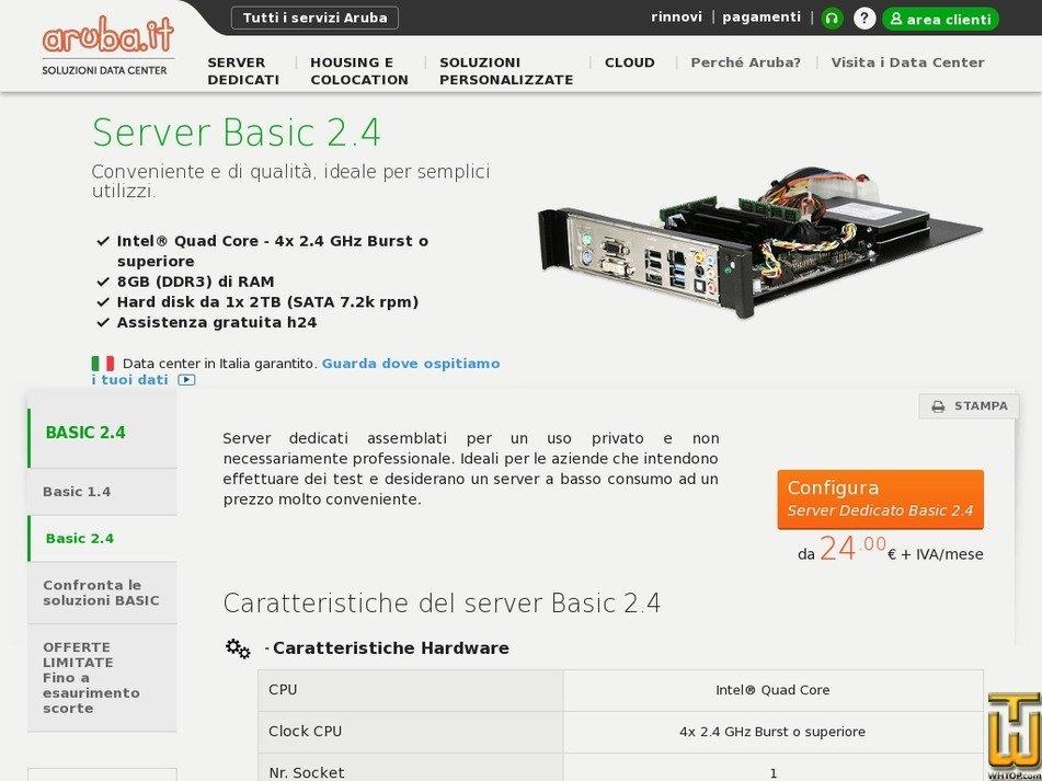 Screenshot of Basic 2.4 from aruba.it