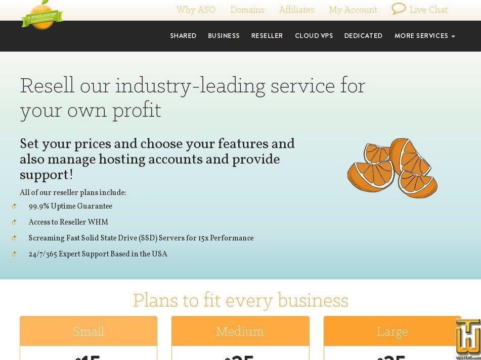 Screenshot of Small from asmallorange.com