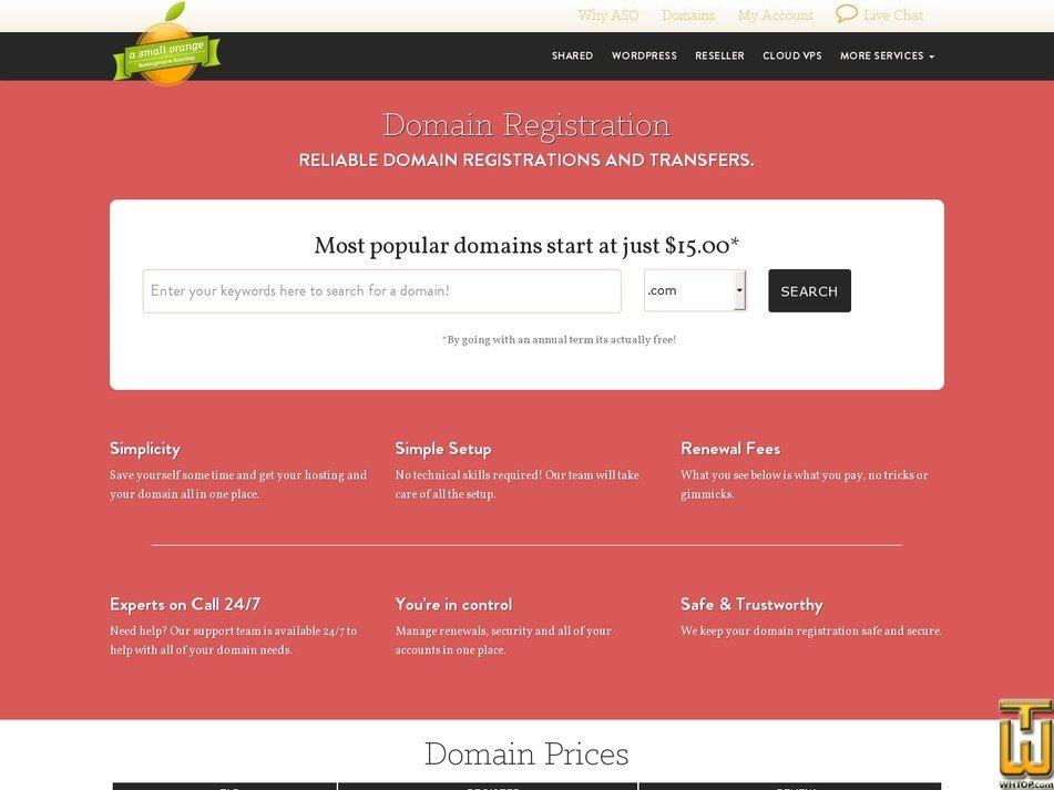 Screenshot of .com from asmallorange.com