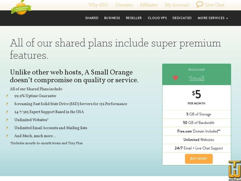 Screenshot of Large from asmallorange.com