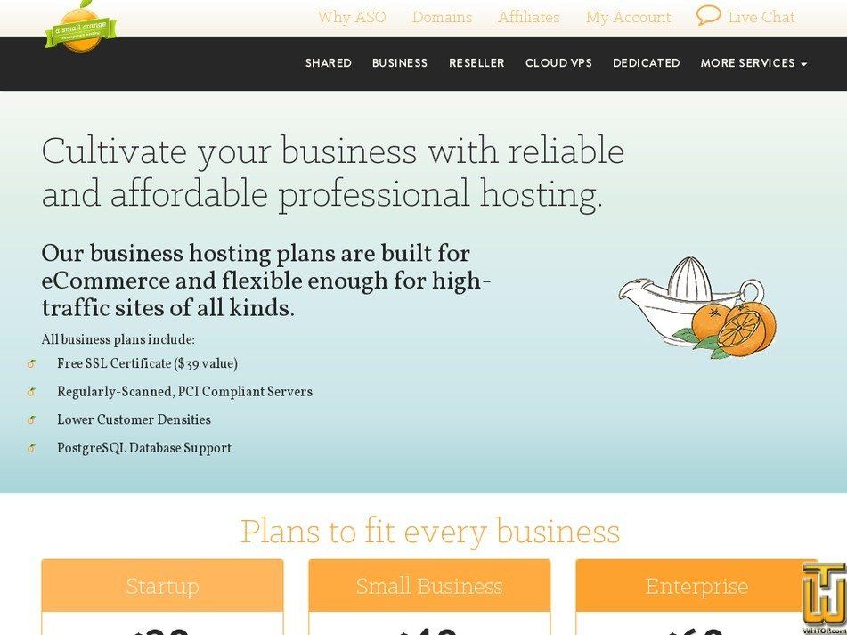 Screenshot of Startup from asmallorange.com
