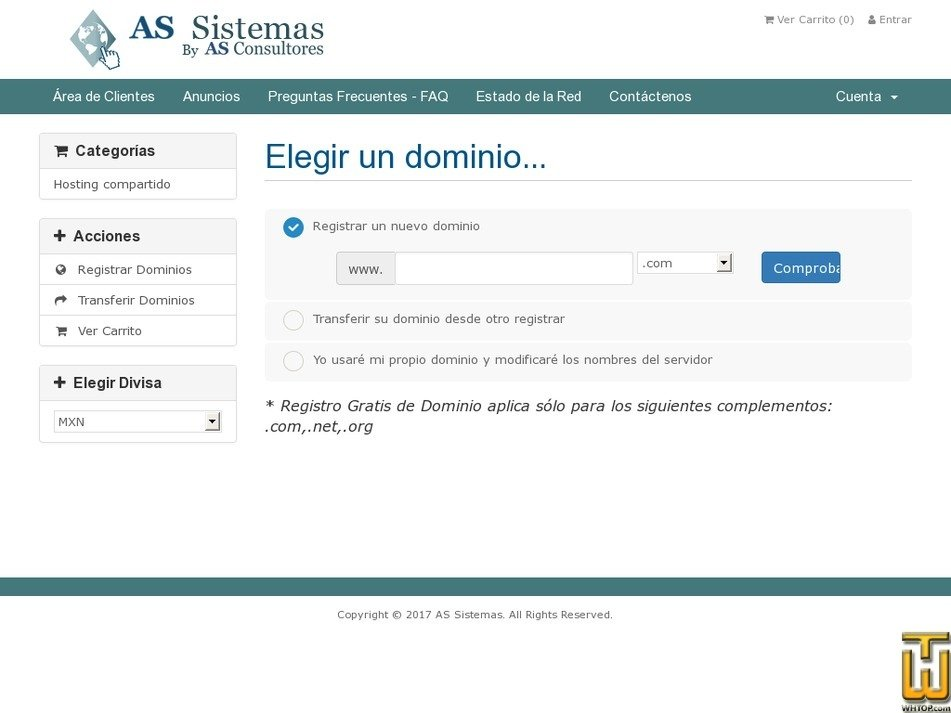 Screenshot of Mi-PYME from assistemas.net