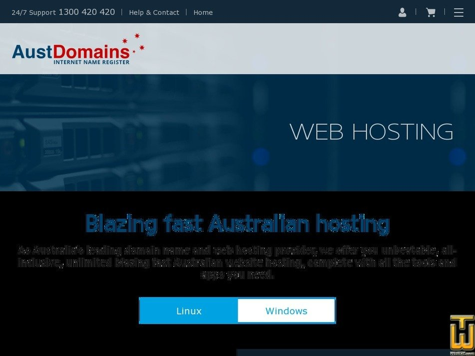 Screenshot of PREMIUM from austdomains.com.au