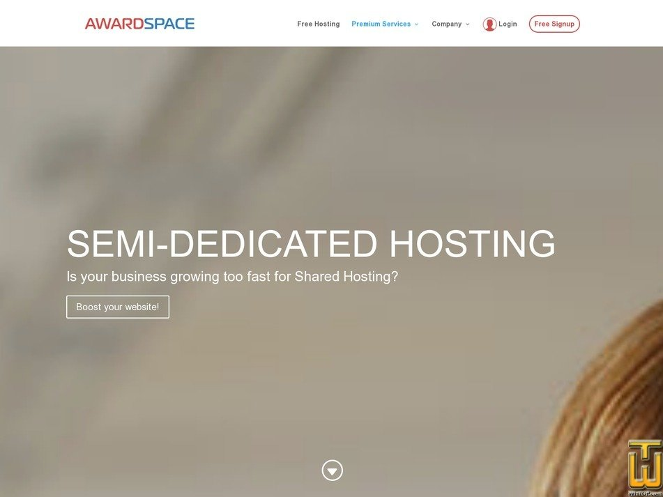 Screenshot of Pro Semi Dedicated from awardspace.com