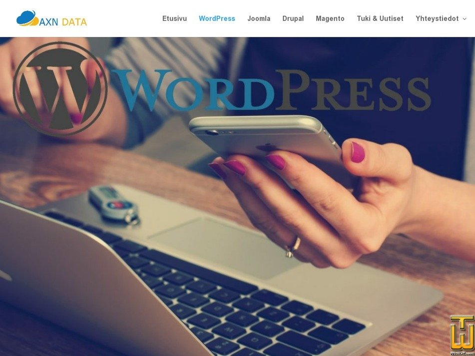 Screenshot of Wordpress from axndata.fi