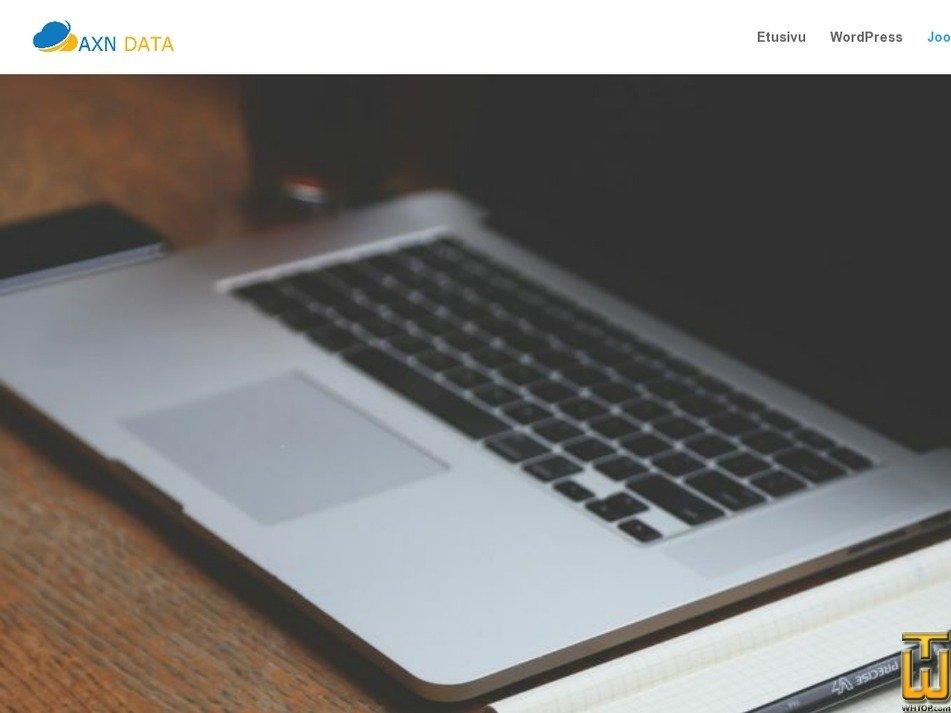 Screenshot of Joomla from axndata.fi