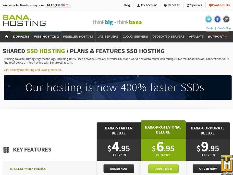 Screenshot of Bana-Starter Deluxe from banahosting.com