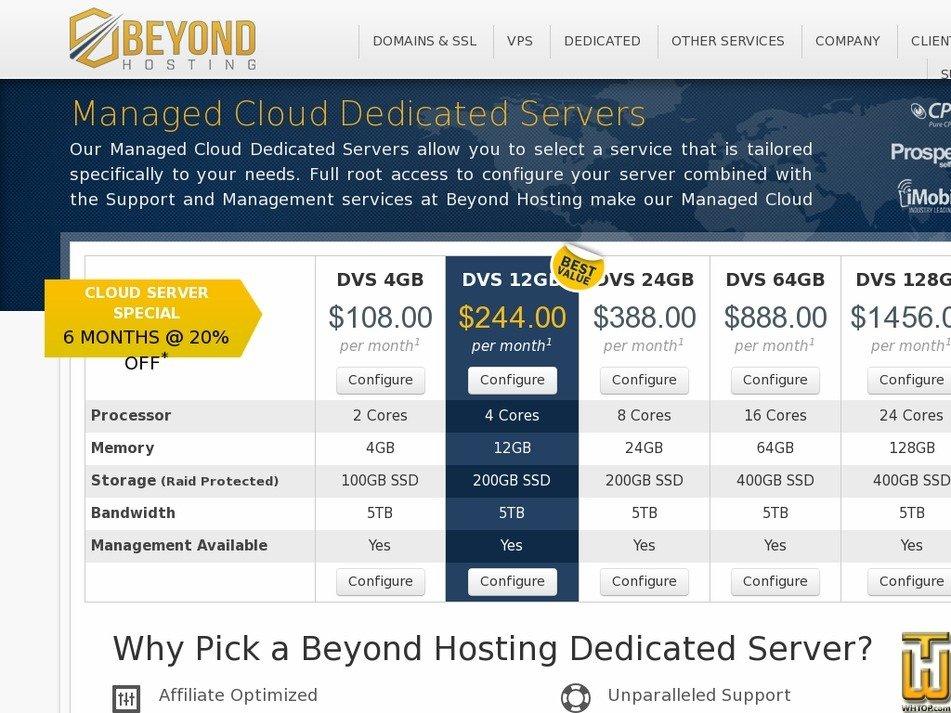 Screenshot of DVS 4GB from beyondhosting.net