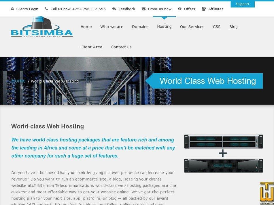 Screenshot of World-class Startup Package from bitsimba.com