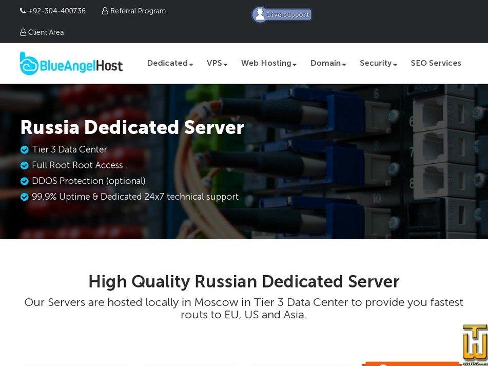 Screenshot of Russia 1 from blueangelhost.com