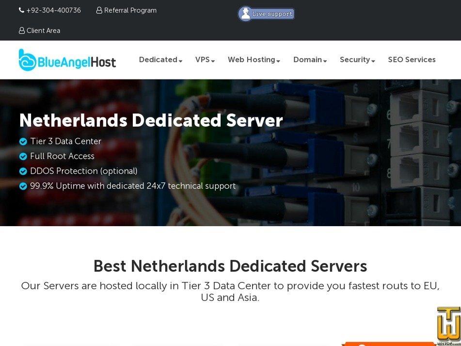 Screenshot of Euro 1 from blueangelhost.com