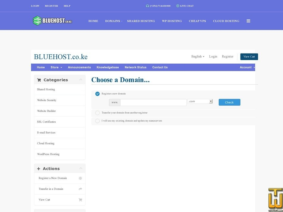 screenshot of BUSINESS HOSTING from bluehost.co.ke
