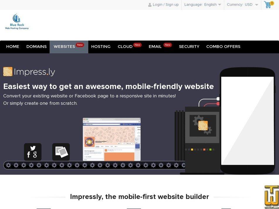 Screenshot of Impress.ly from bluerock.co.in