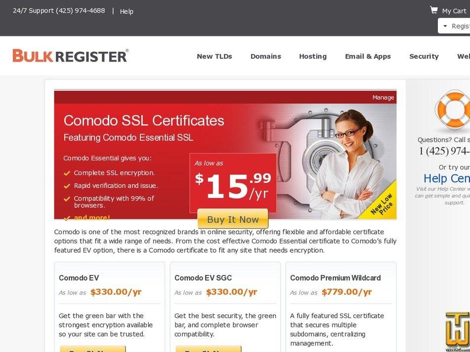 Comodo Ev Bulkregister 65338 On Ssl Certificates