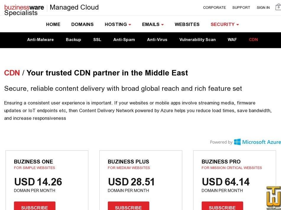 Screenshot of Economy from buzinessware.com