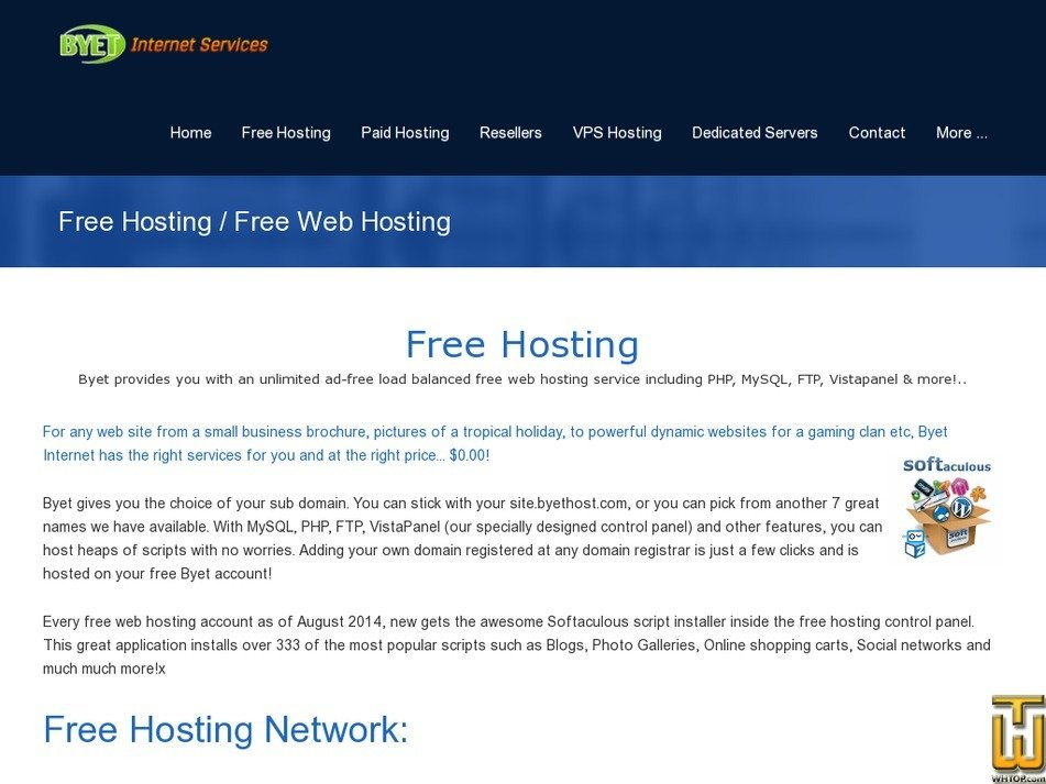 Screenshot of Free Web Hosting from byet.host