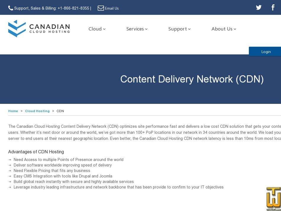 screenshot of CACloud CDN from cacloud.com