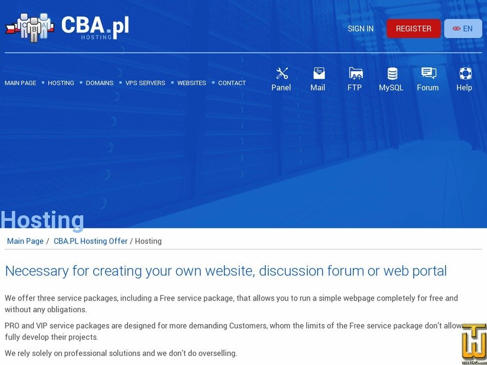 screenshot of FREE from cba.pl