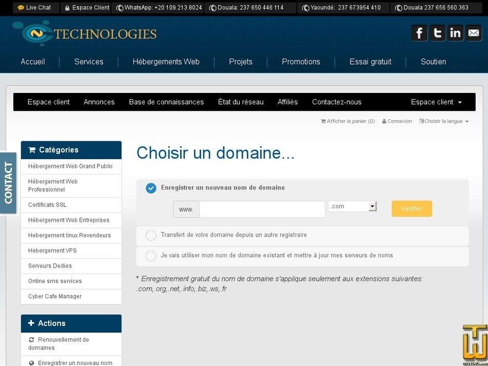 Screenshot of LHR-DORCAS from ccntechnologies.com