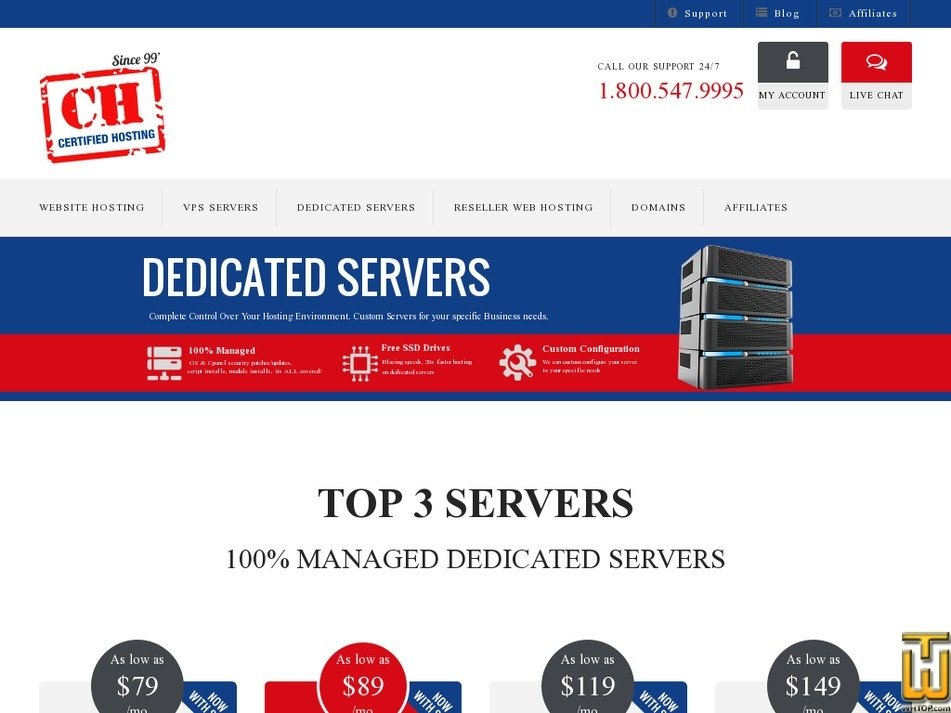 Screenshot of Pro 48A from certifiedhosting.com