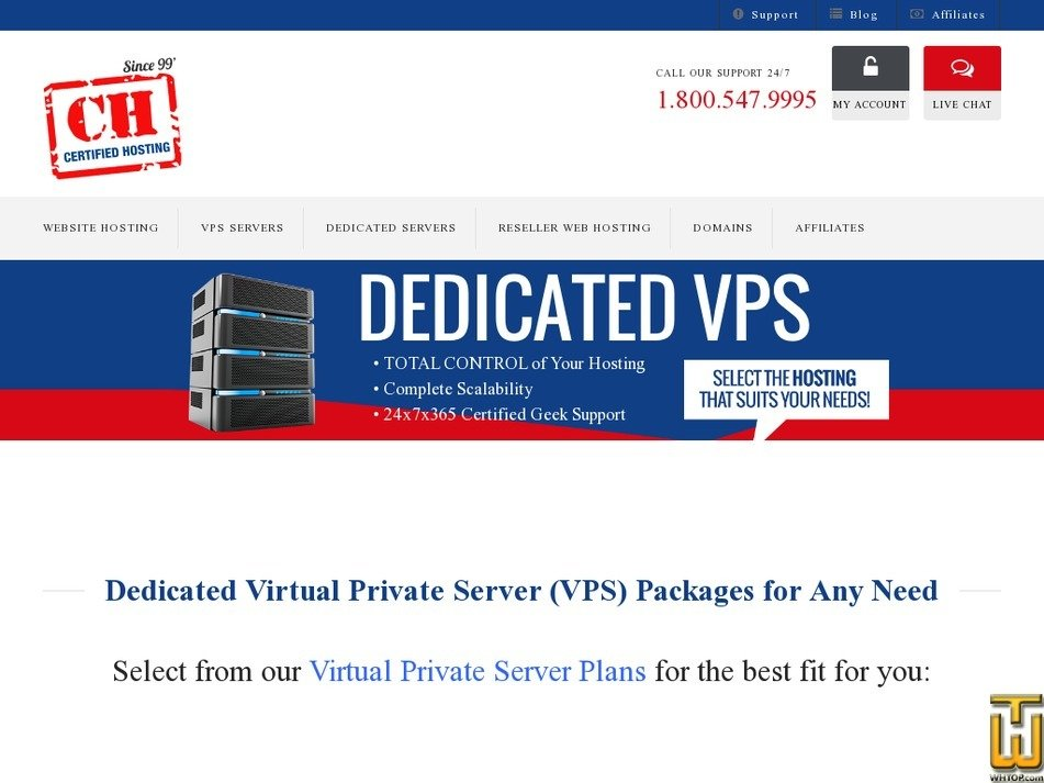 Screenshot of VPS 48A from certifiedhosting.com