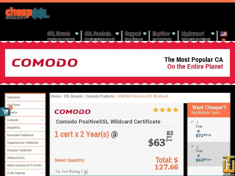Comodo Positivessl Wildcard Certificate From Cheapsslsecurity