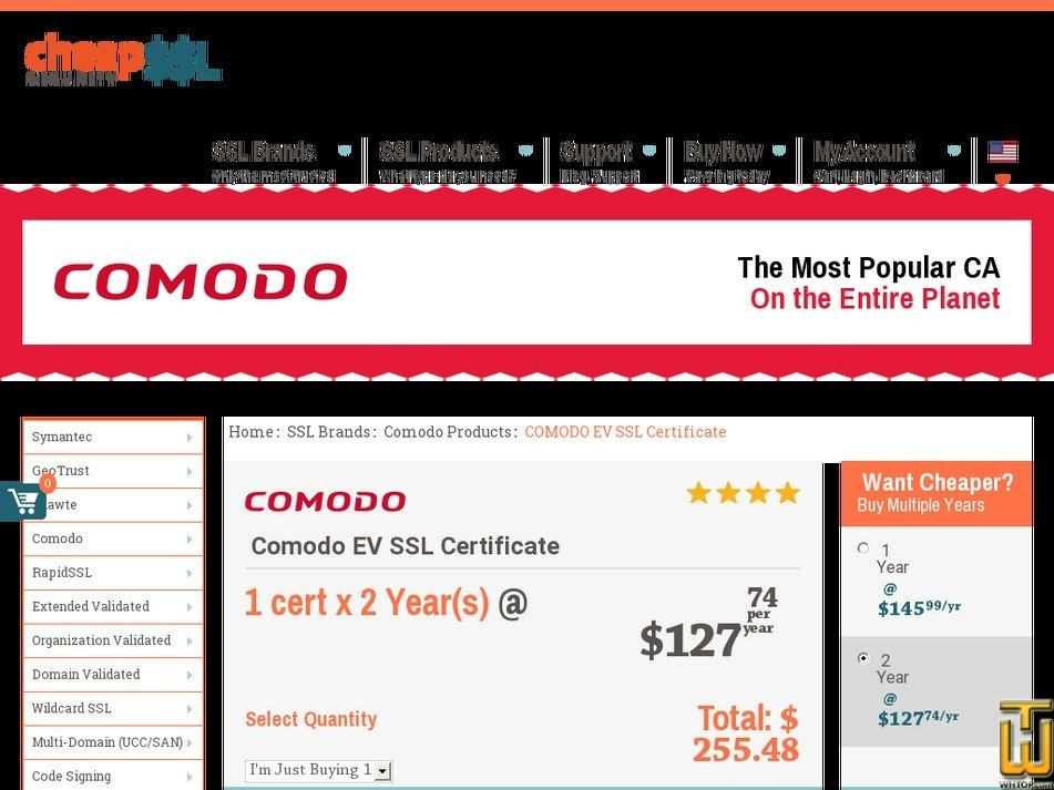 Comodo Ev Ssl Certificate From Cheapsslsecurity 62788