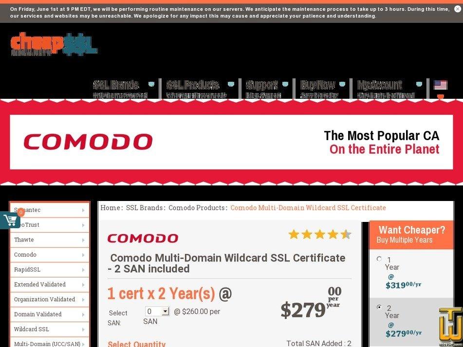 Comodo Multi Domain Wildcard Ssl Certificate 62658