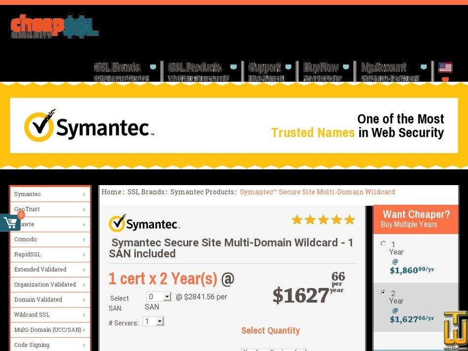 symantec secure site multi domain wildcard, #62794