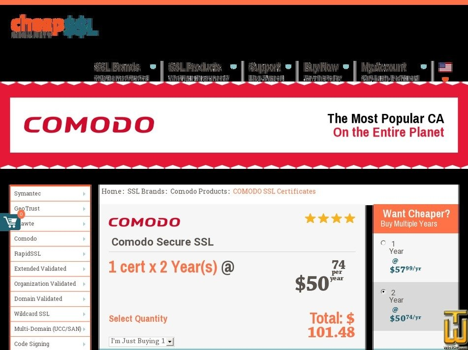 Comodo Ssl Certificate From Cheapsslsecurity 62767