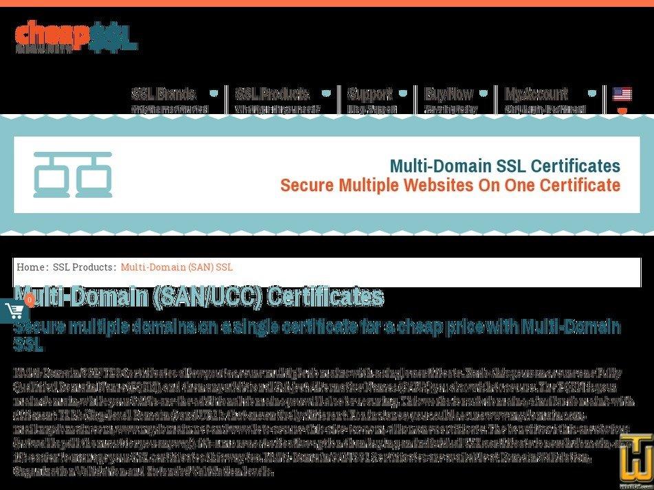 Screenshot of Unified Communications (UCC) SSL from cheapsslsecurity.com