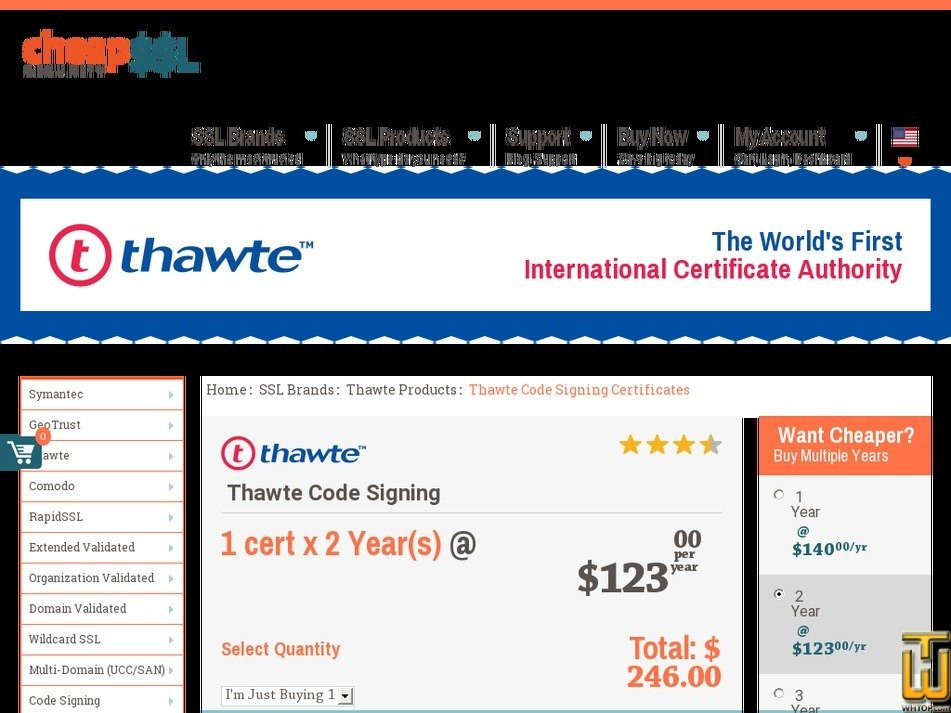 Thawte Code Signing Certificate From Cheapsslsecurity 61507