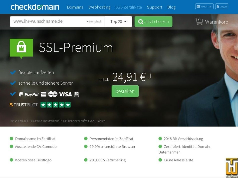 SSL Premium from checkdomain.de, #42465 on SSL Certificates,