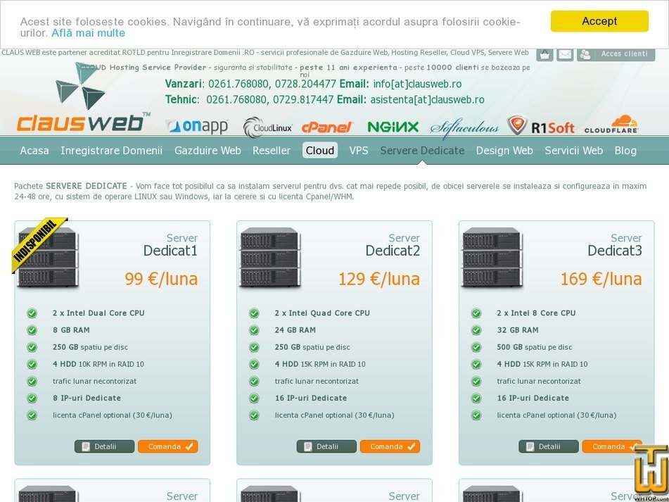Screenshot of Dedicat2 from clausweb.ro