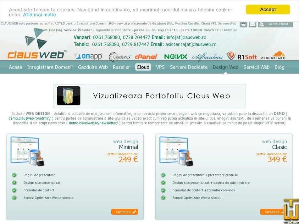 Screenshot of Publicatie from clausweb.ro