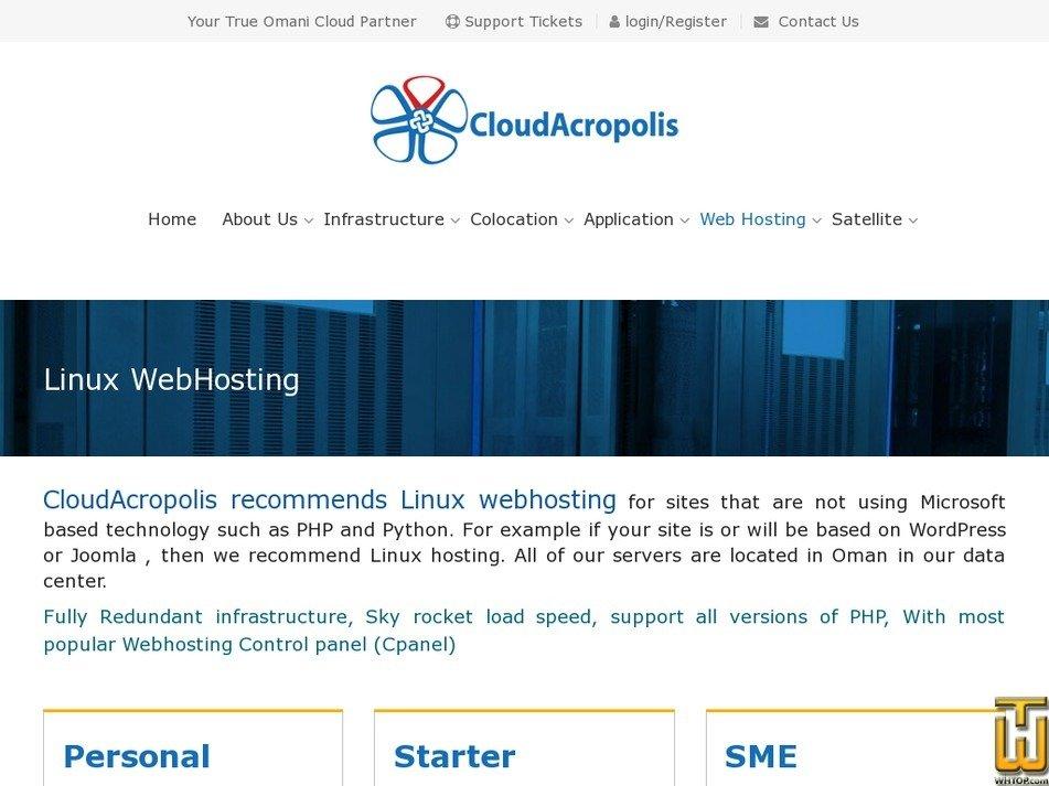 Screenshot of Starter from cloudacropolis.com