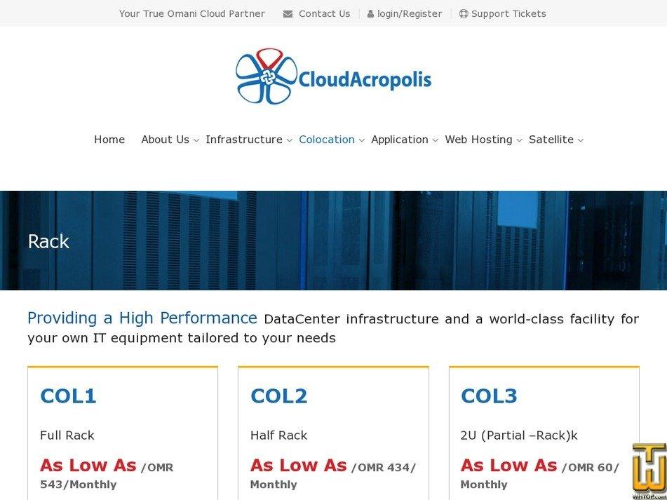 Screenshot of Rack from cloudacropolis.com