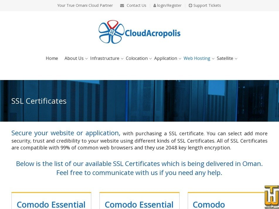 Screenshot of SSL Certificates from cloudacropolis.com
