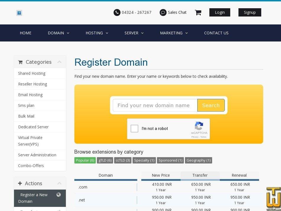 Screenshot of .com from cloudsolz.com