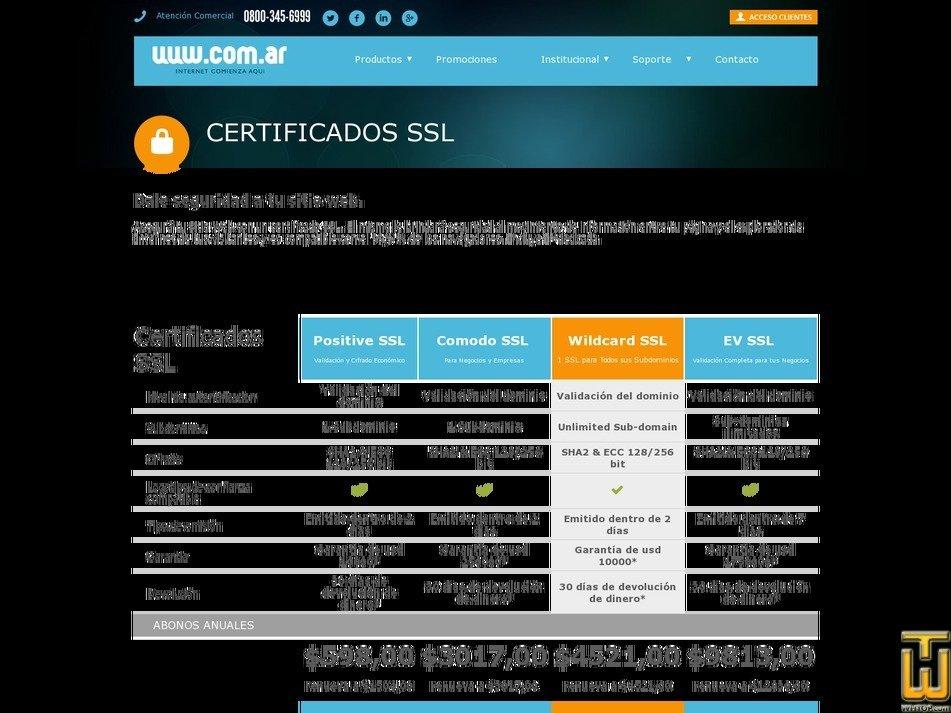 screenshot of Positive SSL from com.ar