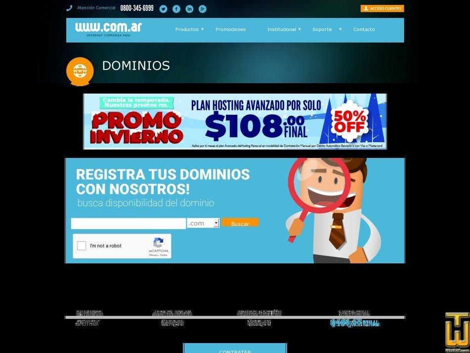 screenshot of .com from com.ar