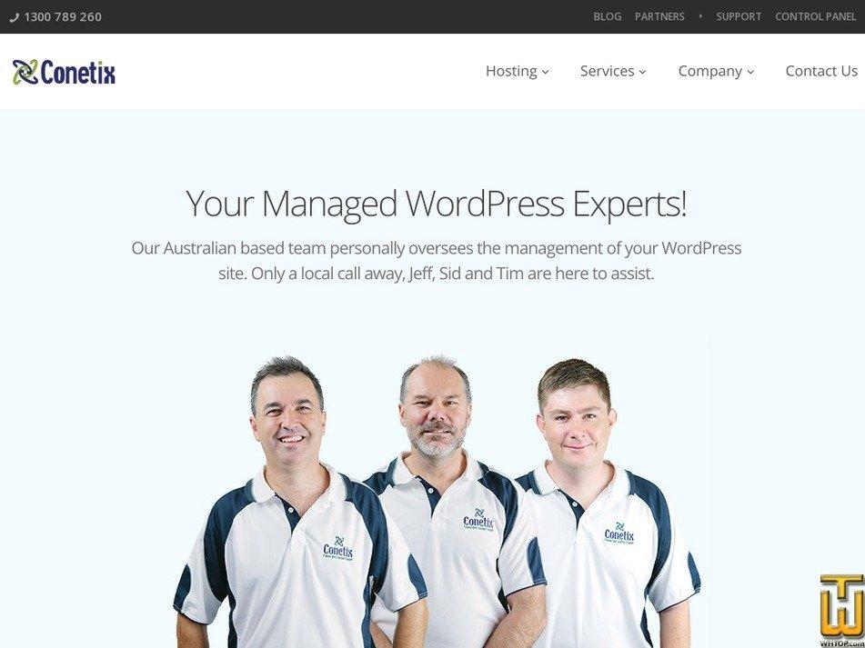 Screenshot of Managed WordPress Domain from conetix.com.au