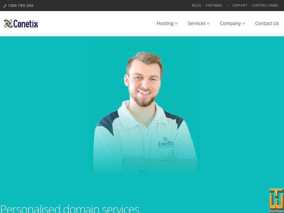 Screenshot of .com.au  .com  .net.biz  .org  .info from conetix.com.au