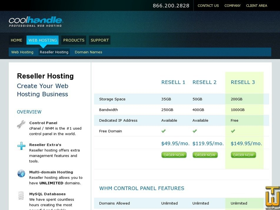 Screenshot of Reseller 1 from coolhandle.com