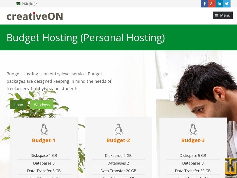 Screenshot of Budget-1 from creativeon.com