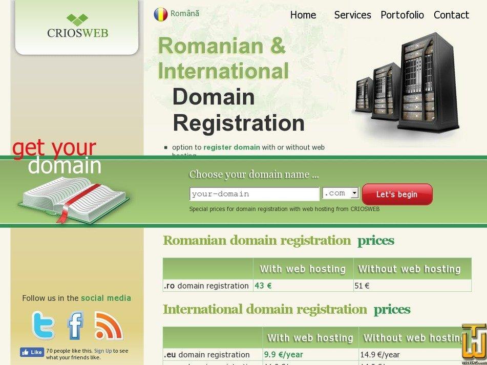 Screenshot of .com from criosweb.ro