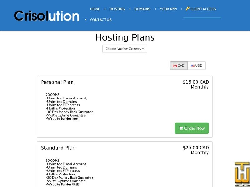Screenshot of Personal Plan | Excellent package to start from crisolution.com
