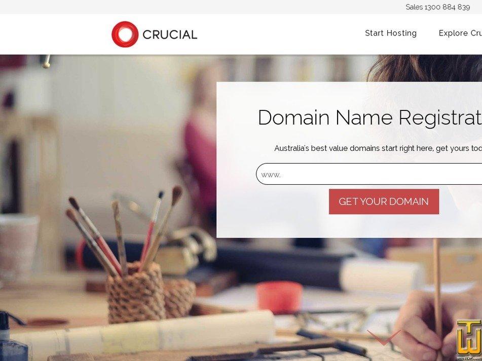 screenshot of .com from crucial.com.au