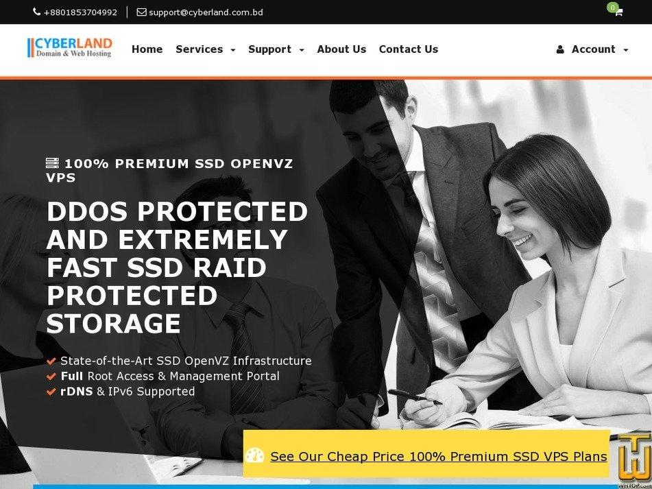 Screenshot of PREMIUM SSD OPENVZ VPS from cyberland.com.bd